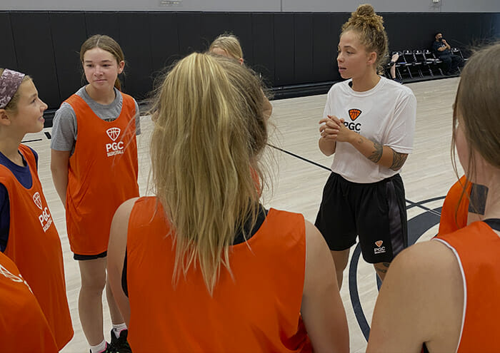 PGC Coach with Female Players